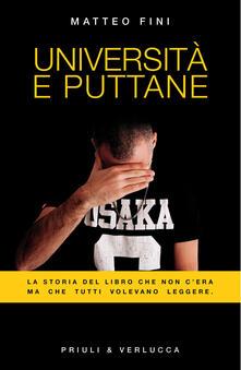 Università e puttane - Matteo Fini - copertina