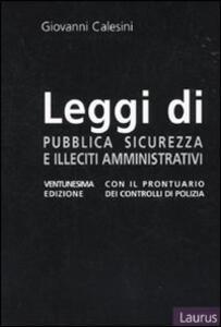 Leggi di pubblica sicurezza, illeciti amministrativi