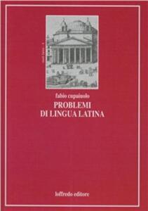 Problemi di lingua latina