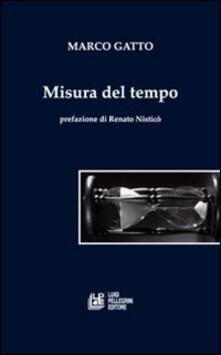Misura del tempo - Marco Gatto - copertina