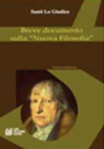 Breve documento sulla «nuova filosofia»