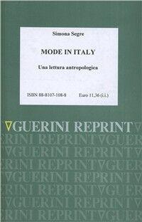 Mode in Italy. Una lettura antropologica