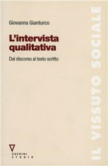 Ristorantezintonio.it L' intervista qualitativa. Dal discorso al testo scritto Image
