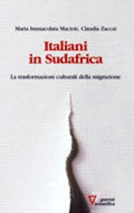 Italiani in Sudafrica. Le trasformazioni culturali della migrazione