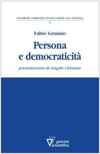 Persona e democraticità