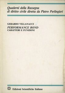 Performance bond. Caratteri e funzioni