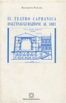 Lpgcsostenible.es Il teatro Capranica. Dall'inaugurazione al 1881. Cronologia degli spettacoli con indici analitici Image