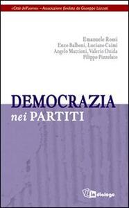 Democrazia nei partiti - copertina
