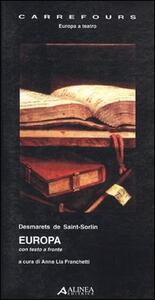Europa. Testo originale a fronte - Jean Desmarets de Saint Sorlin - copertina