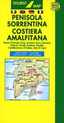 Premioquesti.it Penisola sorrentina. Costiera amalfitana 1:50.000. Con guida turistica Image