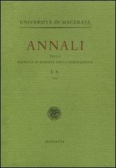 Annali della Facolta di scienze della formazione dell'Universita di Macerata (2004). Vol. 1
