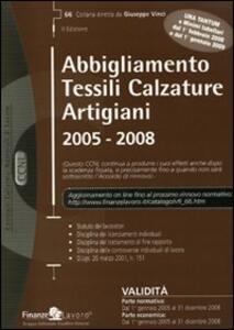 Abbigliamento tessili calzature artigiani 2005-2008