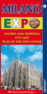 Milano Expo 2015. Tourist and shopping city map. Plan of the Expo center