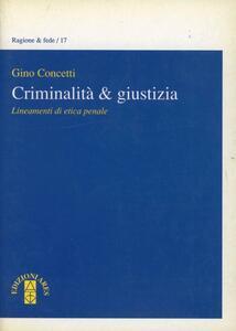 Criminalità e giustizia