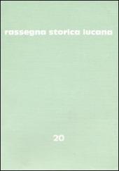 Rassegna storica lucana. Vol. 20