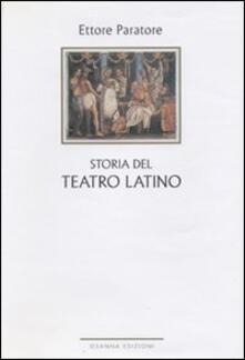 Storia del teatro latino - Ettore Paratore - copertina