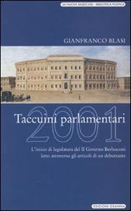 Taccuini parlamentari 2001