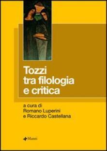 Tozzi tra filologia e critica - copertina