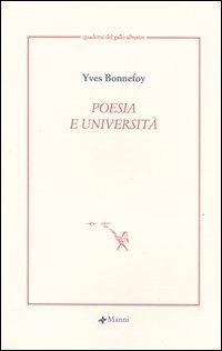 Poesia e università. Testo ...