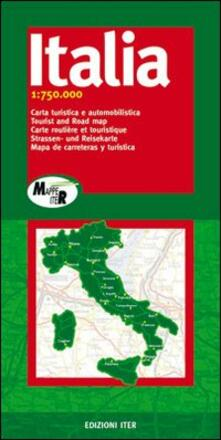 Ipabsantonioabatetrino.it Italia. Carta turistica e automobilistica 1:750.000 Image