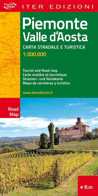 Cartina Stradale Valle D Aosta.Piemonte E Valle D Aosta Carta Stradale E Turistica 1 300 000 Ediz Multilingue Libro Iter Edizioni Carte Stradali Ibs