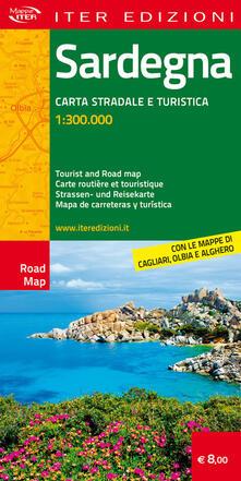 Winniearcher.com Sardegna. Carta stradale e turistica antistrappo 1:300.000. Ediz. italiana, inglese, francese, tedesca, spagnola Image