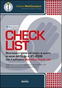 Check list. Sicurezza e igiene nei luoghi di lavoro. CD-ROM
