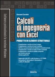 Calcoli di ingegneria con excel. Con Contenuto digitale per download e accesso on line - Giovanni Cerretini - copertina