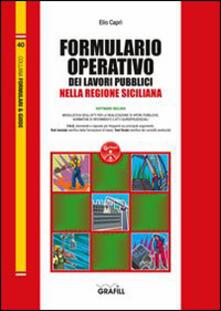 Formulario operativo dei lavori pubblici della regione Sicilia. Con aggiornamento online - Elio Caprì - copertina
