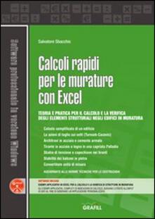 Calcoli rapidi per le murature con Excel. Con Contenuto digitale per download e accesso on line - Salvatore Sbacchis - copertina