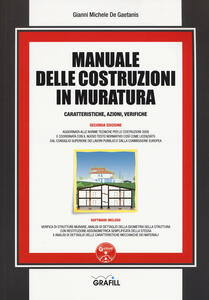 Manuale delle costruzioni in muratura. Caratteristiche, azioni, verifiche. Con Contenuto digitale per download