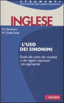 Listadelpopolo.it Inglese. L'uso dei sinonimi Image