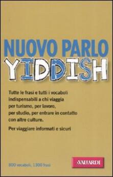 Nuovo parlo yiddish - Davide Astori - copertina