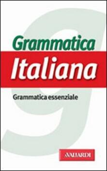 Radiospeed.it Grammatica italiana. Grammatica essenziale Image