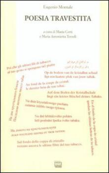 Poesia travestita - Eugenio Montale - copertina