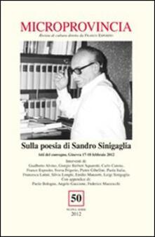Winniearcher.com Microprovincia (2012). Vol. 50: Sulla poesia di Sandro Sinigaglia. Image