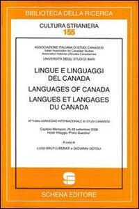 Lingue e linguaggi del Canada-Languages of Canada-Langues et langages du Canada. Atti del convegno internazionale di Studi Canadesi (Monopoli, settembre 2208)
