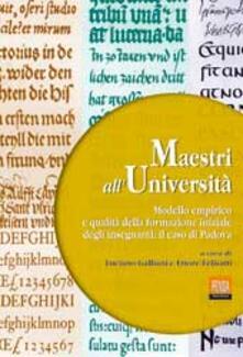 Maestri all'università. Modello empirico e qualità della formazione iniziale degli insegnanti: il caso di Padova - copertina