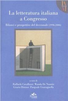 La letteratura italiana a congresso - copertina