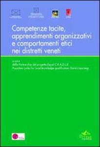 Competenze tacite, apprendimenti organizzativi, comportamenti etici