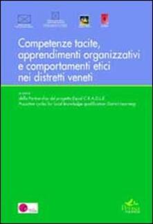 Competenze tacite, apprendimenti organizzativi, comportamenti etici - copertina