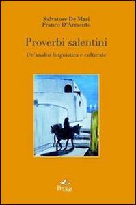 Proverbi salentini. Un'analisi linguistica e culturale