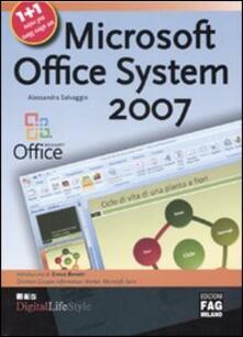 Microsoft Office System 2007-Microsoft Office Online - Alessandra Salvaggio - copertina