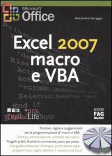 Recuperandoiltempo.it Excel 2007 macro e VBA Image