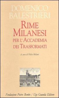 Rime Milanesi per l'Accademia dei trasformati