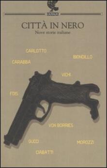Città in nero. Nove storie italiane - copertina
