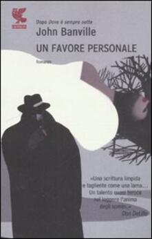 Un favore personale - John Banville - copertina