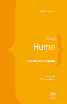 Contro Rousseau - David Hume - copertina