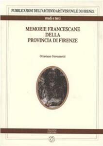 Memorie francescane della provincia di Firenze