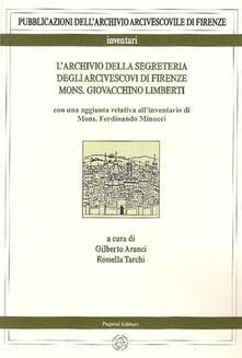 Vitalitart.it L' archivio della segreteria degli arcivescovi di Firenze. Vol. 2\1: Mons. Giovacchino Limberti. Image
